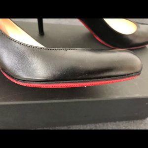 Christian Louboutin Shoes - Christian Louboutin Black Simple Leather Pump 39.5